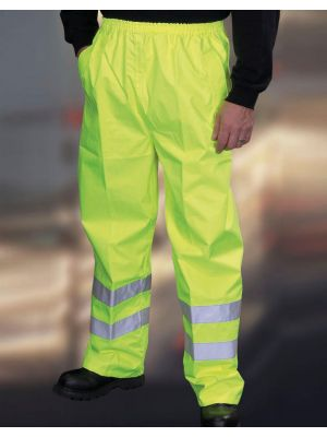 Pantalones reflectantes yoko fluo yellow vista 1